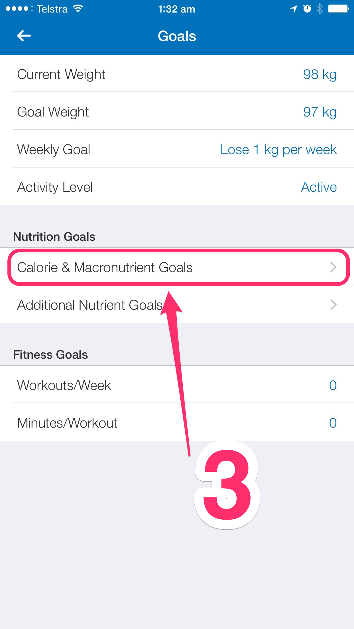 customising myfitnesspal step 3