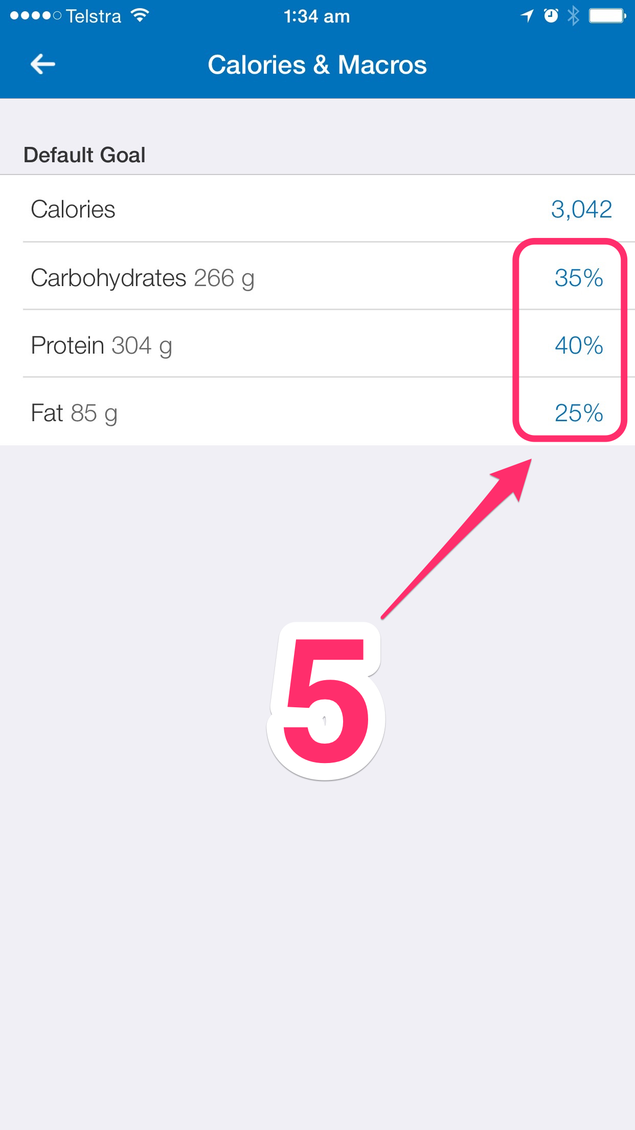 customising myfitnesspal step 5
