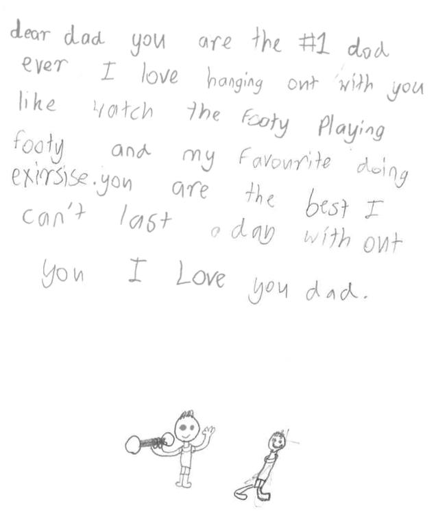 Birthday card to fitdad Adam