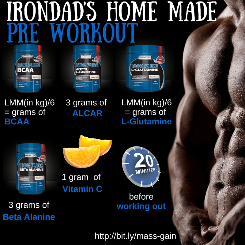 Irondad's home made pre workout